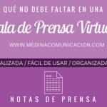 Infografía: Qué no debe faltar en una Sala de Prensa Virtual
