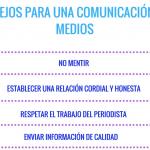 Infografía: consejos para una comunicación con medios