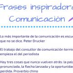 Infografía: frases inspiradoras en comunicación