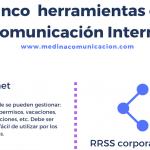 Infografía: herramientas de Comunicación Interna