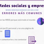 Infografía: Errores más comunes en las Redes Sociales