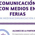 Infografía: Comunicación con medios en Ferias