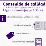 Infografía: Contenido de Calidad, consejos prácticos