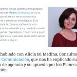 """Agenciasdecomunicacion.org: """"Medina Comunicación basa su trabajo en hacer equipo con el cliente"""""""